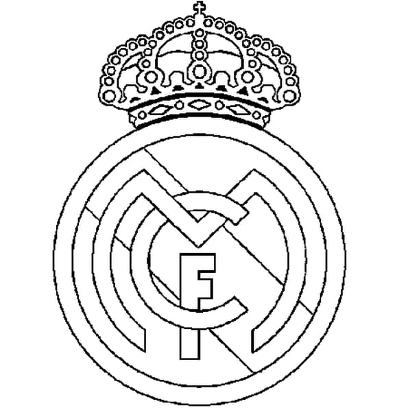 Dessin Real Madrid a colorier