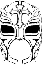 Coloriage Masque de Rey Mysterio en Ligne Gratuit à imprimer