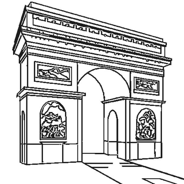Coloriage Arc De Triomphe En Ligne Gratuit à Imprimer