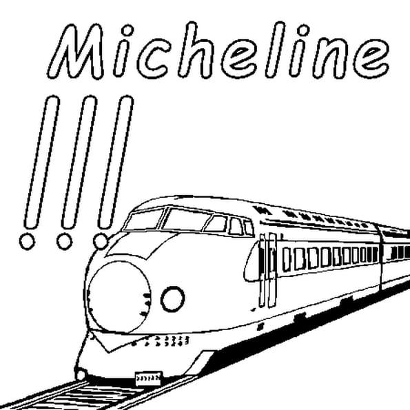 Dessin Micheline a colorier