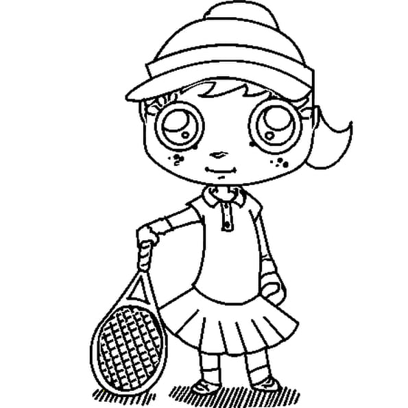 Coloriage tennis en Ligne Gratuit à imprimer