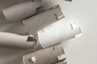 Etape 1: découper vos rouleaux de papier toilette