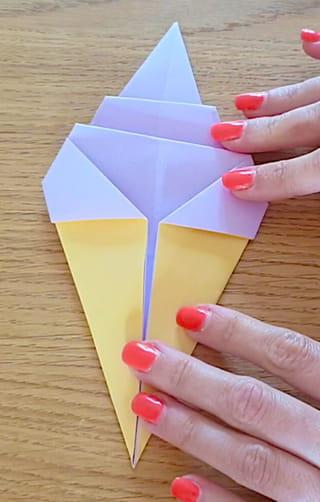 Votre origami de glace à l'italienne est terminé!
