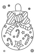 Coloriage boule de Noël nœud papillon