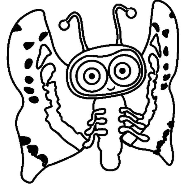 Dessin Nara Bug Waybuloo a colorier