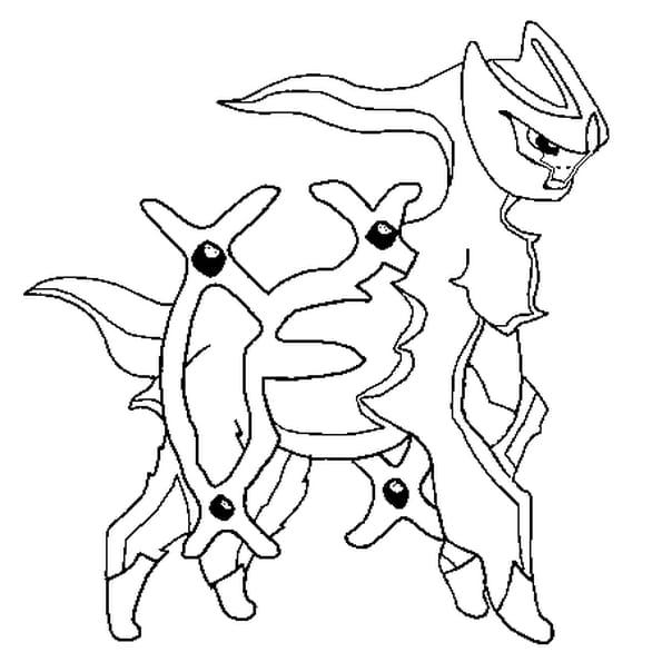 Coloriage pok mon arceus en ligne gratuit imprimer - Dessin pokemon legendaire a imprimer gratuit ...