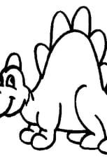 Coloriage Dino pour petits en Ligne Gratuit à imprimer