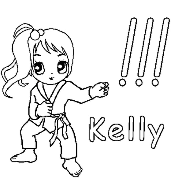 Dessin Kelly a colorier