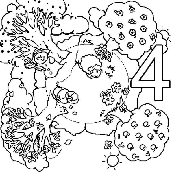 Coloriage 4saisons en Ligne Gratuit à imprimer