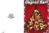 Carte de vœux joli sapin de Noël
