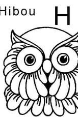 Coloriage lettre H comme hibou en Ligne Gratuit à imprimer