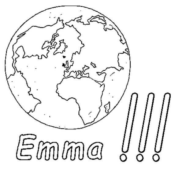 Dessin Emma a colorier