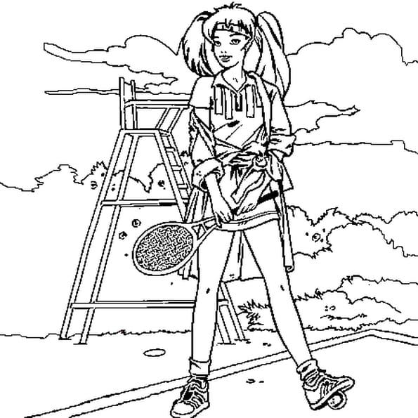 Raquette de tennis dessin - Dessin raquette ...