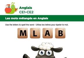 Les mots mélangés en Anglais, exercice12