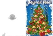 Carte sapin de Noël bleu