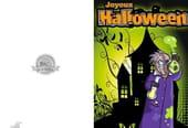 Carte de vœux Halloween scientifique fou