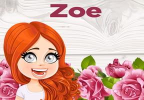 Zoe : prénom de fille lettre Z