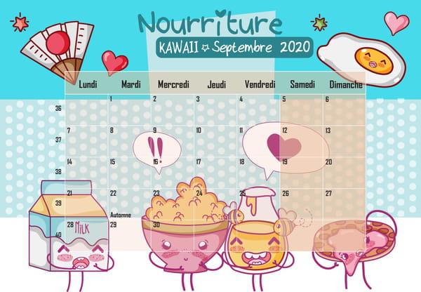 Nourriture Kawaii Calendrier 2020