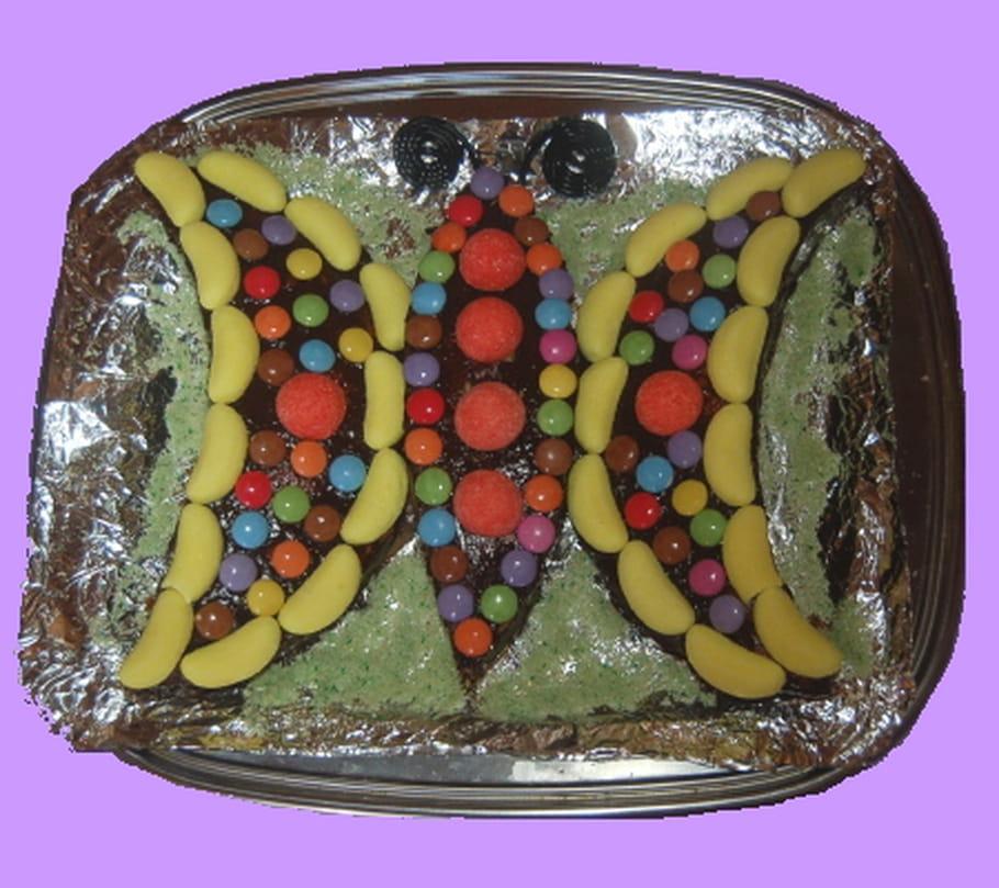 Gâteau d'anniversaire Papillon
