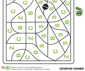 Coloriage magique CP, une paire de ciseaux