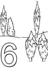 Coloriage 6Cyprès en Ligne Gratuit à imprimer
