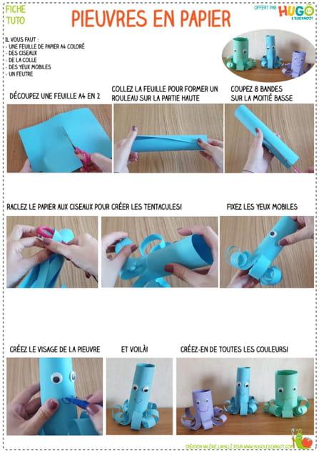 fabriquer-des-pieuvres-en-papier