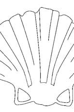 Coloriage coquille st Jacques en Ligne Gratuit à imprimer