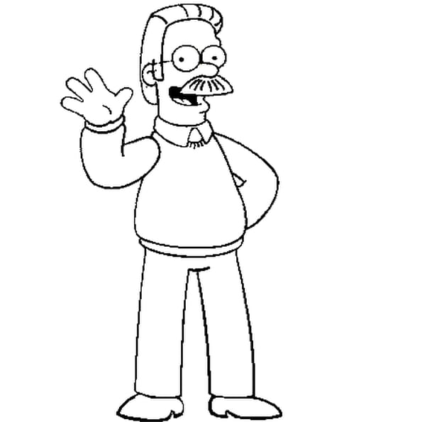 Dessin ned flanders a colorier