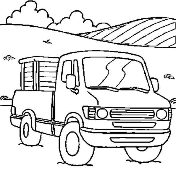 Dessin camion a colorier