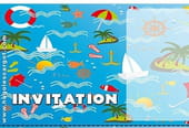 Carte invitation anniversaire marine