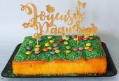 Décoration de gâteau, un topper Joyeuses Pâques