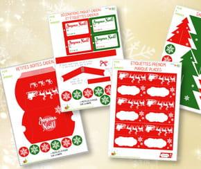 Décoration de table de Noël à imprimer