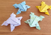 Origami grenouilles sauteuses [VIDEO]