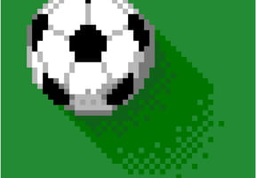 Ballon de football en pixel art
