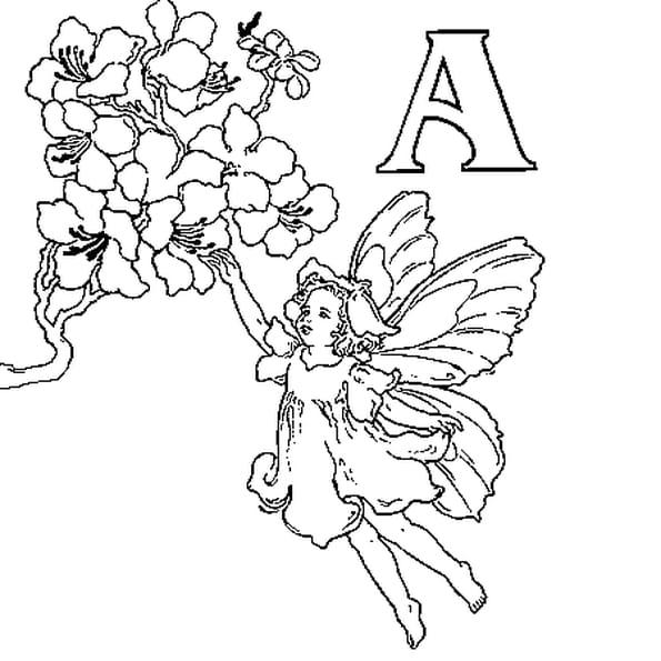Coloriage Fée Alphabet en Ligne Gratuit à imprimer