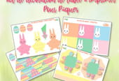 Kit de décoration de table de Pâques à imprimer