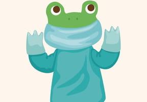 Une grenouille dans un bocal