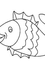Coloriage de poisson avril