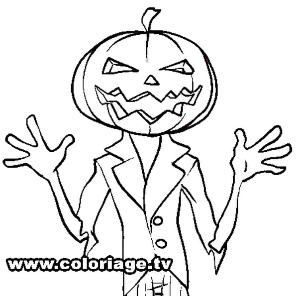 coloriage citrouille halloween en ligne gratuit imprimer. Black Bedroom Furniture Sets. Home Design Ideas