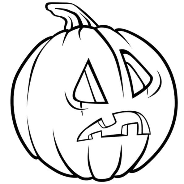Coloriage citrouille d 39 halloween tonn e en ligne gratuit imprimer - Coloriages d halloween ...