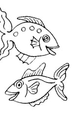 Coloriage poissons avril