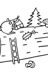 Coloriage La Buche de Noël en Ligne Gratuit à imprimer