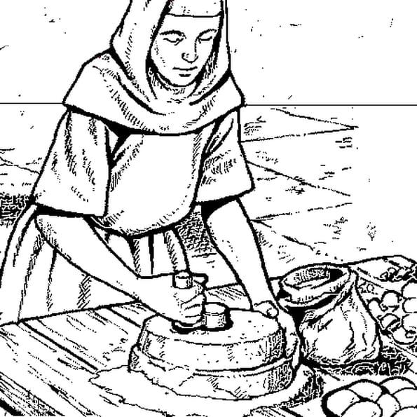 Coloriage de cuisine en ligne gratuit imprimer - Image du moyen age a imprimer ...