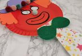 Clown en assiette carton: masque de carnaval