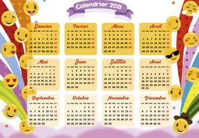 Smileys et emojis: calendrier 2021