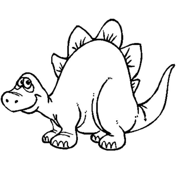 Dessin A Colorier De Dinosaure A Imprimer