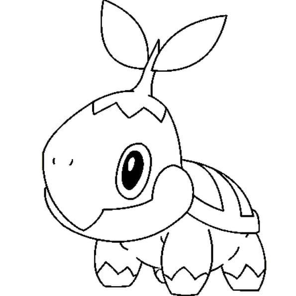 Coloriage Pokémon naeturo en Ligne Gratuit à imprimer