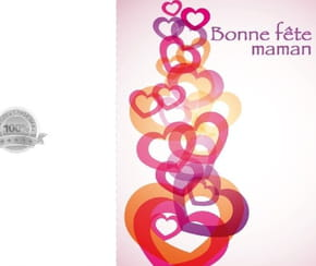 Carte fête des mères jolis cœurs