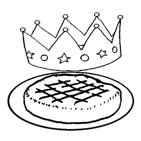 Galette des rois coloriage galette des rois en ligne - Dessin sur galette des rois ...