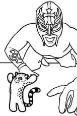 Coloriage Rey Mysterio en Ligne Gratuit à imprimer